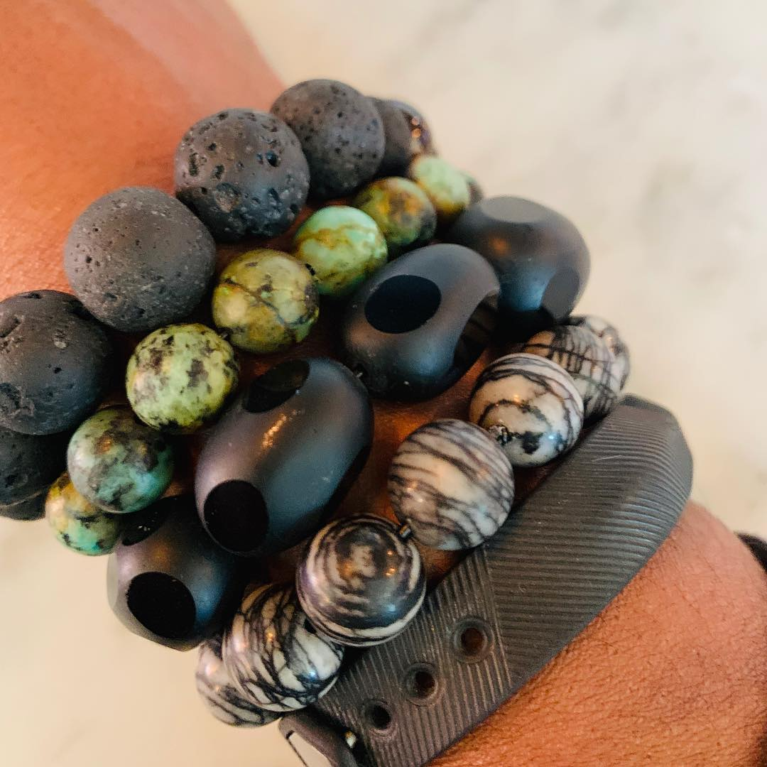 Instagram: Here are my new custom bracelets (and my Fitbit.) I purchased the bracelets from my friend Tracie Rose. These are so fabulous and so is Tracie!  Hmmm… maybe I should have taken off my Fitbit before I took the photos. 🤦🏽♀️ . . . . . . . .  #custombracelets #customjewelry #fabulous #bohemianstyle #dmv #washingtondc #unionmarketdc #reallyhers